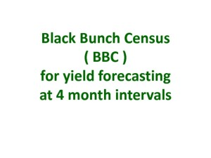 thumbnail of Black bunch census at 4 month intervals