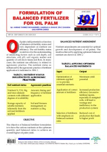 thumbnail of Formulation of balanced fertilizer for oil palm