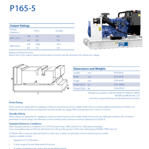 FG WILSON P165-5